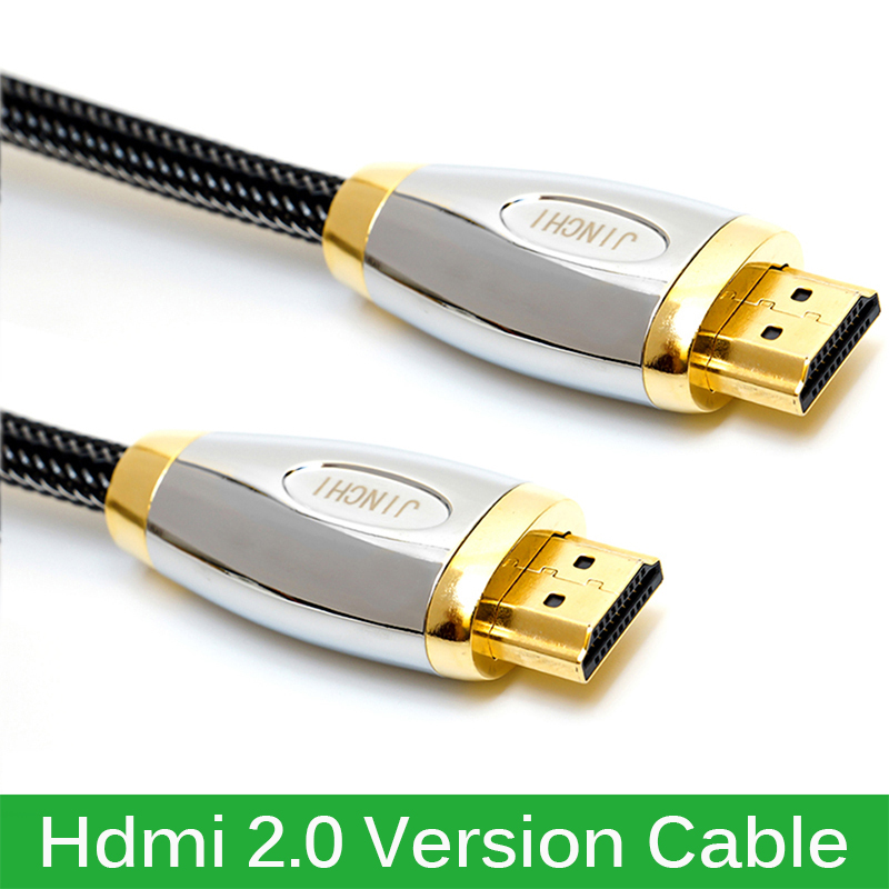 High End Crystal Mesh Hdmi 2.0 Version Cable Gold HDMI Cable for Projector HD LCD TV Computer Cable 1.5M 3M 5M(China (Mainland))