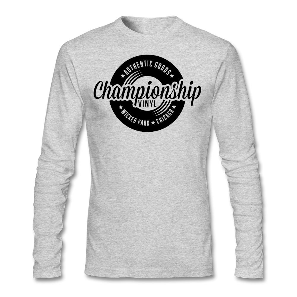 Championship Vinyl T Shirts Men Printed 100% Cotton Long Sleeve T-shirt TeenBoys Clothes Unique Tee Cheap Sale Top(China (Mainland))