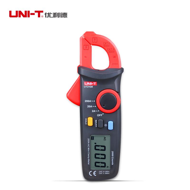 UNI-T UT210A Digital Mini Clamp Multimeter 200A AC Ammeter Auto Range Display Backlight<br><br>Aliexpress
