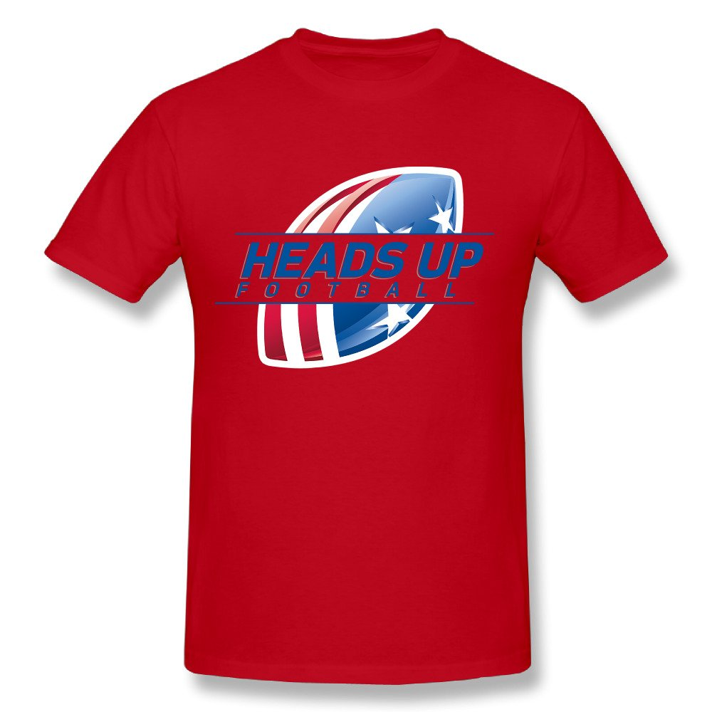 2017 men's USA Headsup Football fashion funny custom Print Slim Fit T Shirt Top quality cotton Tops Tees(China (Mainland))