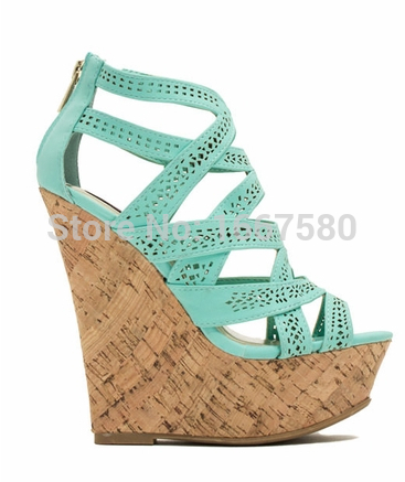 Shoesofdream Womens Shoes Summer Coppy Leather Hot Sale Gladiator Sandals Casual Comfortable Wedges<br><br>Aliexpress