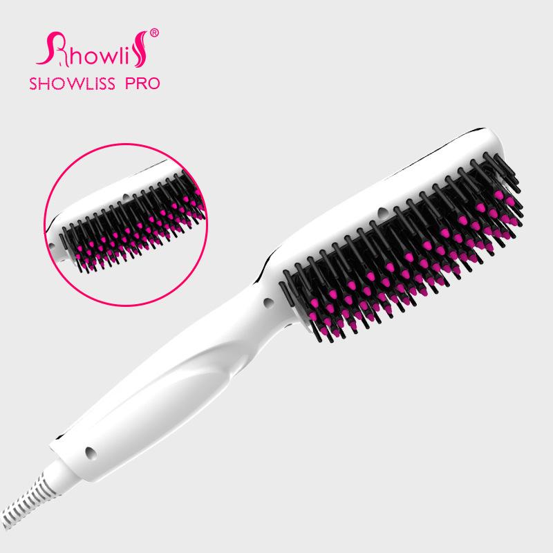 2016 Showilss Digital Electric Hair Straightener Brush Comb Detangling Straightening Irons Hair Brush EU/ US/ UK Plug(China (Mainland))