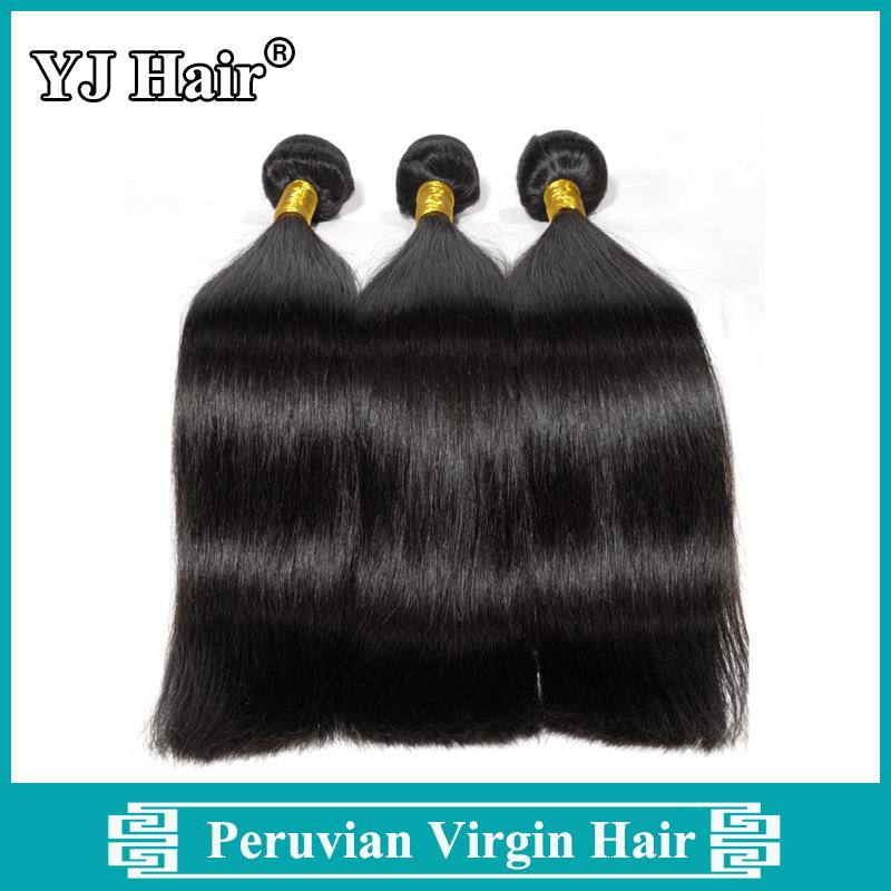 Unprocessed Peruvian Hair 100% Human Hair 3pcs Lot Peruvian Straight Hair Extensions Grade 6A Peruvian Virgin Hair Straight
