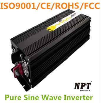3000W Inverter DC12V/24V/48V to AC220V Pure Sine Wave Inverter 6000W Peak Power ISO9001 CE ROHS FCC(China (Mainland))