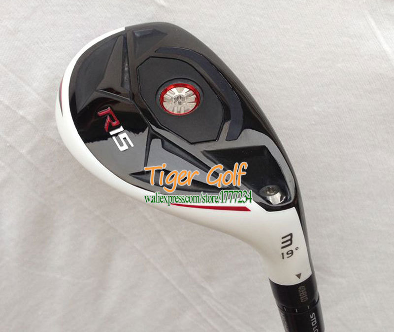 New Golf clubs R15 irons and wooden cue 17.19.21.24 loft Graphite Golf shaft Golf Hybrid Wood Free shipping(China (Mainland))