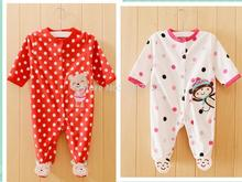 High quality cartes newborn baby clothes fleece fabric baby girl clothes autumn baby jumpsuit baby clothes(China (Mainland))