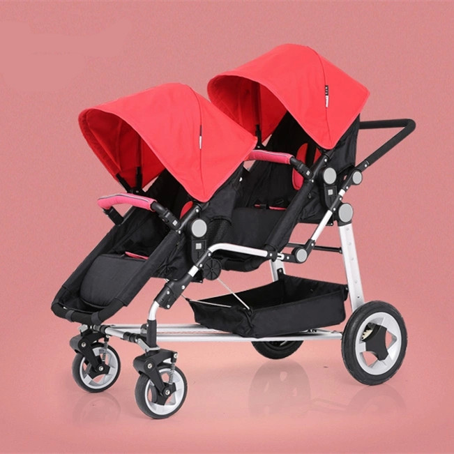 High Quality & Cheap Double Kids Strollers In Red,Pink
