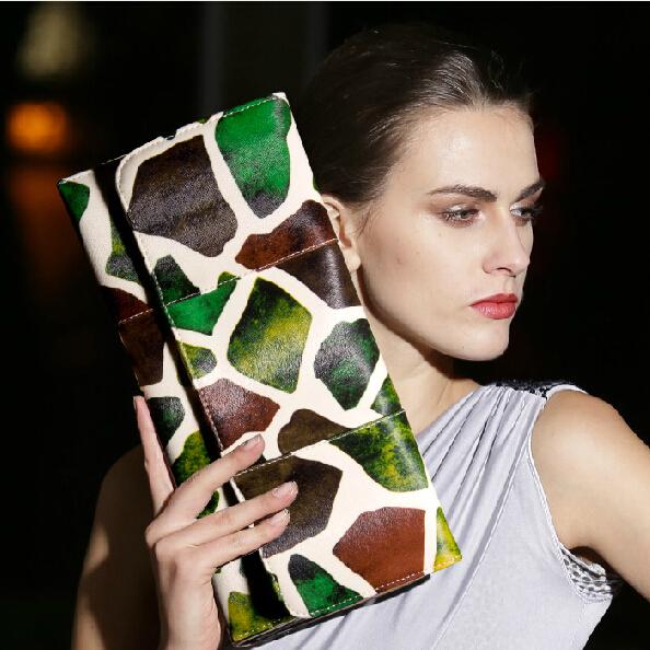 Brand Design Fashion Women Envelope Animal Prints Big Clutch Bags 2015 Vintage women purses And Handbags Bolsa Feminina Wallet(China (Mainland))