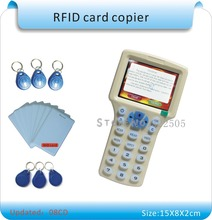 Updated version English 10 frequency  RFID  Copier ID/IC Reader Writer /copy  M1 13.56MHZ Sector0  encrypted +30pcs 3kinds tags