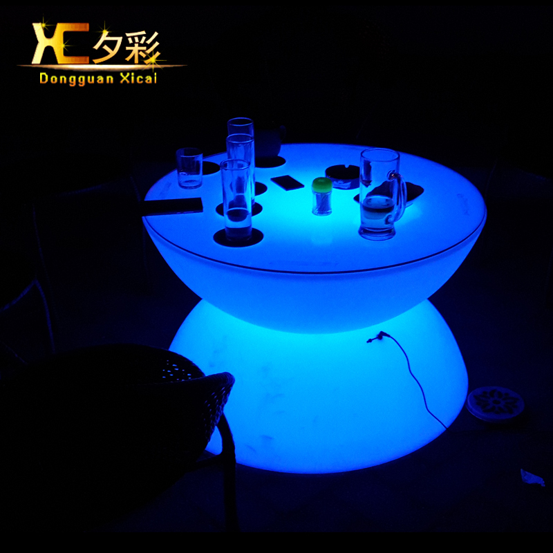 Plastic LED Coffee Table Round Wine Tea End Tables For Bar Club Pub Resturant Hotel Ceremony Wedding Party Grand Opening<br><br>Aliexpress
