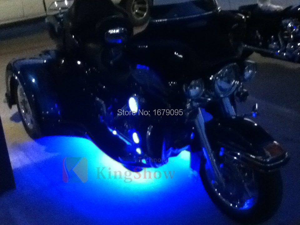 12pc Advanced LED Flexible Strip Motorcycle 120 LED Neon Accent Lighting Kit(China (Mainland))