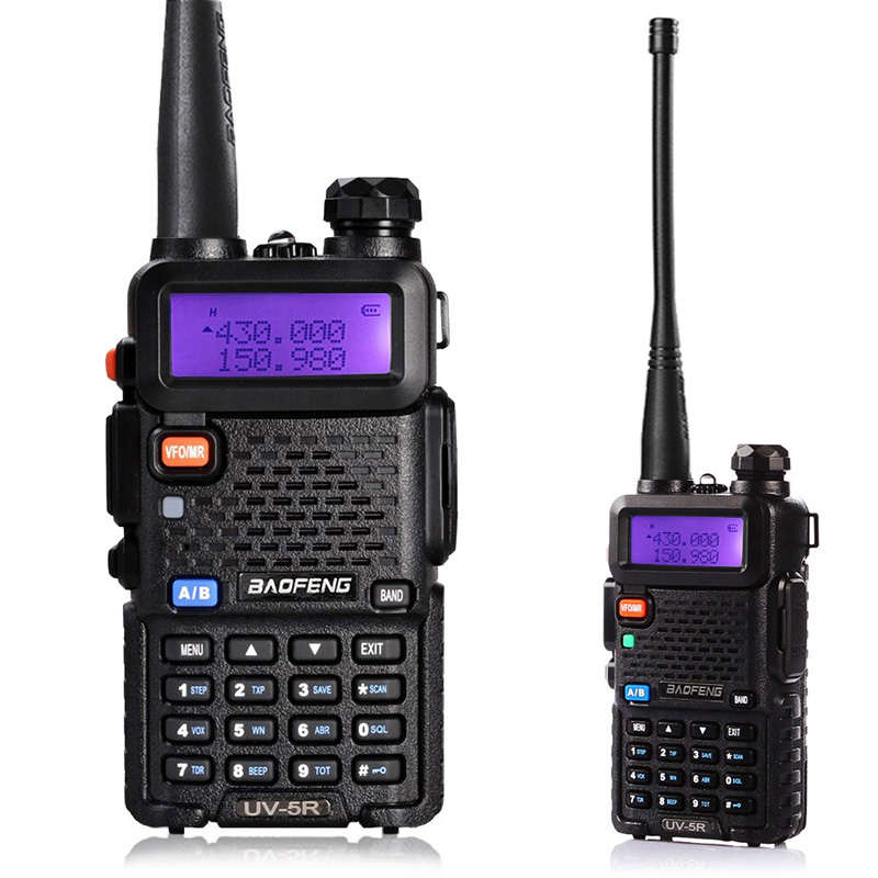 BaoFeng UV-5R Walkie Talkie Dual Band VHF/UHF136-174Mhz & 400-520Mhz Two Way Radio Handheld Baofeng uv5r(China (Mainland))
