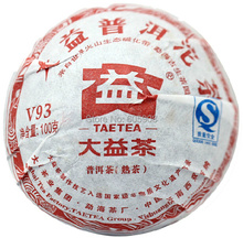 Slimming Tea 2011year 100g Menghai Dayi Puer Ripe Tea Cake Yunnan Da Yi Puer Shu Tuo Cha Health Care  Puerh Tea for Weight Loss