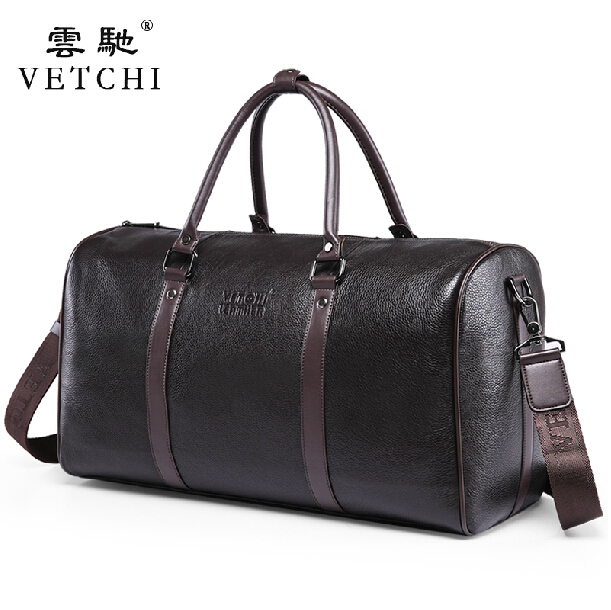 100% Guarantee First Layer Cowskin men's travel bags Vintage Brand Genuine Leather handbags Big men Business Luggage bag - Coolsky Bag Fashion store