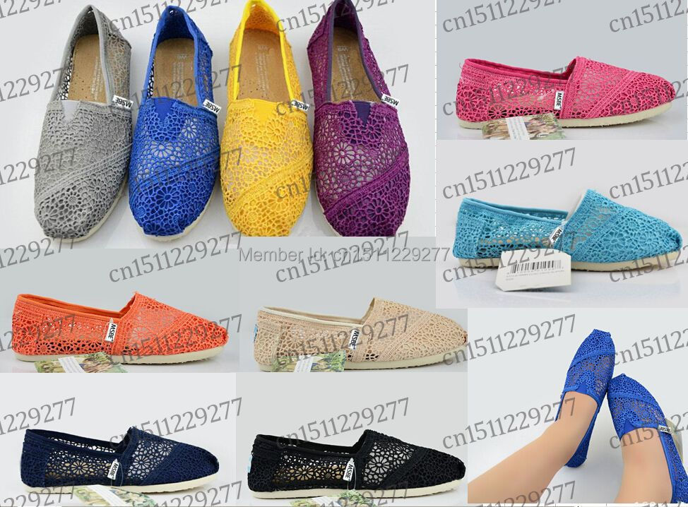 FREE Shipping 10colors Women's one for one Ladies Classic Canvas Casual Plain Shoes Flats Sunflower CROCHET TEXTILE FLORAL shoes(China (Mainland))
