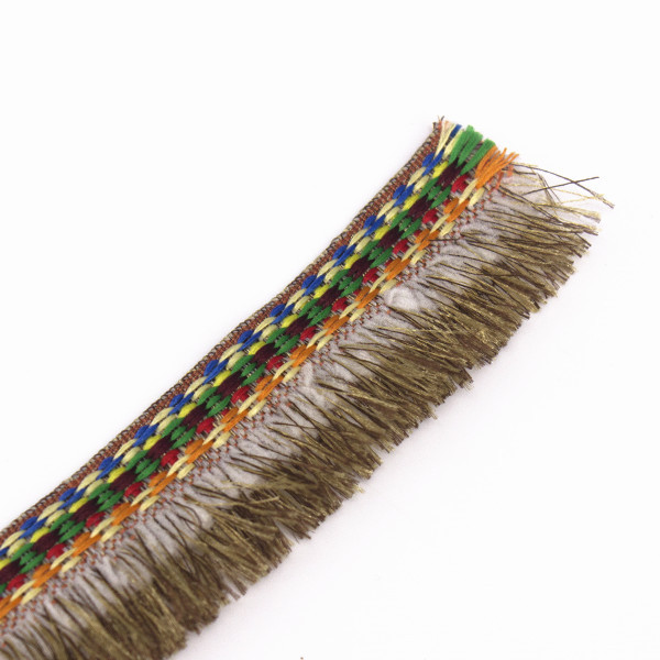Braided Brown Fringe Tassel Trimming Fabrics Embroidery Jacquard Lace Ribbon Trim Webbing Applique for Costumes 20yard/T1289(China (Mainland))