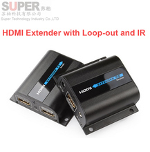 LKV372Pro HDMI extender 1080P HDMI signal upto 60m/196ft over single CAT6 network cable HDMI Extender w/ Loop-out&IR no pack box(China (Mainland))