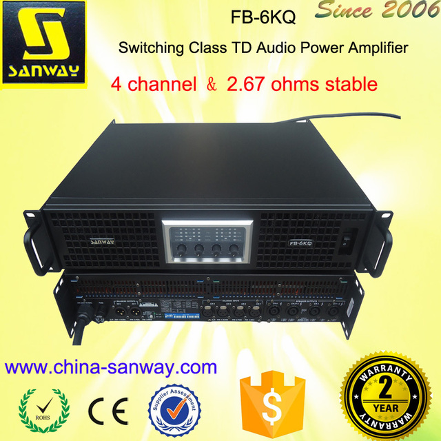 4 Channel Professional TD Power Amplifier FB-6KQ