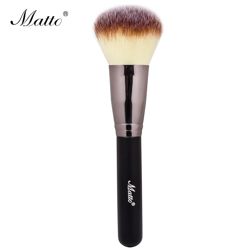 Matto Makeup Brush Big Powder Brush Cosmetics Blending Brush for Makeup Soft Synthetic Blush Make Up Tools Black 1pcs(China (Mainland))