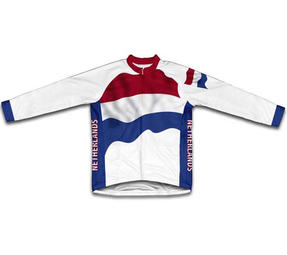 Netherlands Flag Winter thermal fleece Cycling Jerseys Men winter cycling clothing Bicycle Cycle Clothes(China (Mainland))