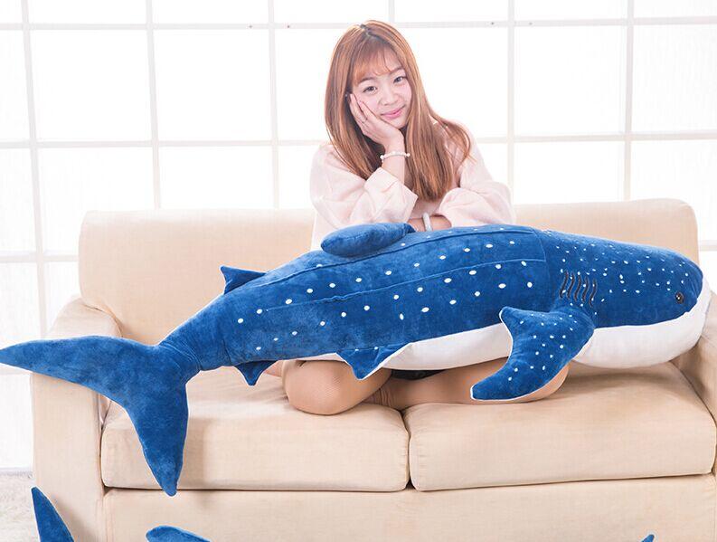Huge New Plush Blue Shark Toy Big Stuffed Sea Whale Doll