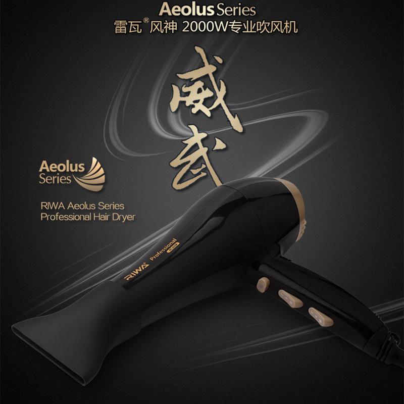 Riwa Aeolus series professional hair dryer Low noise 2000W high power anion ceramic hair dryer for salon