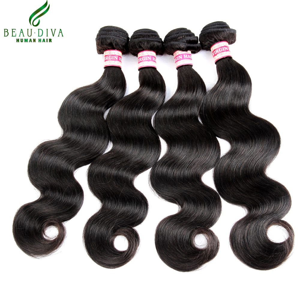 Hot Brazilian Virgin Hair Body Wave 4pcs Mink Brazilian Hair Weaves Bundles 100% 6A Unprocessed Virgin Brazilian Hair Extensions