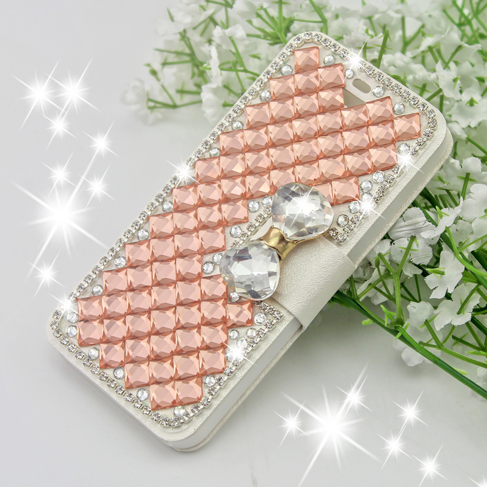 1Luxury Bling Rhinestone leather crystal cases Samsung SIII I9300/S4 I9500/S5 /S6 G9200/S6 Edge cell phone back cover - Xinghai store