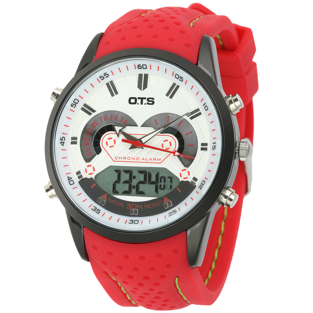 2016 Men's Quartz Digital Watch Men Sports Watches Relogio Masculino O.T.S  Shock Relojes LED Military Waterproof Wristwatches