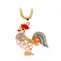 cock pendant women Sweater chain necklace chicken year necklace women fashion jewelry  5 colors