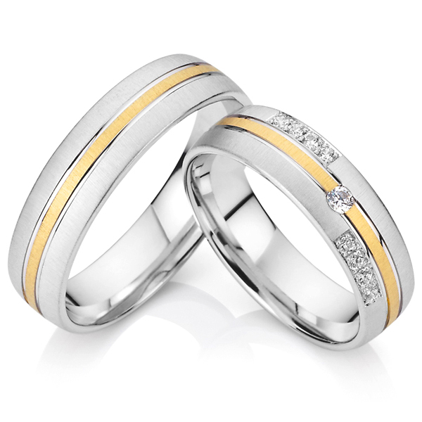 2015 custom western titanium his and hers wedding band engagement couples promise rings sets for men and women anillos de boda(China (Mainland))