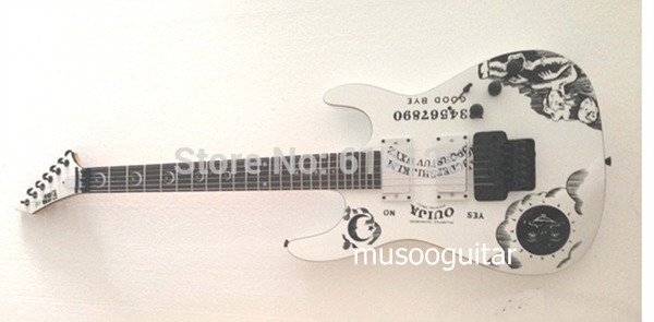 New brand guitars KH-2 Kirk Hammett Ouija electric guitar in white color(China (Mainland))