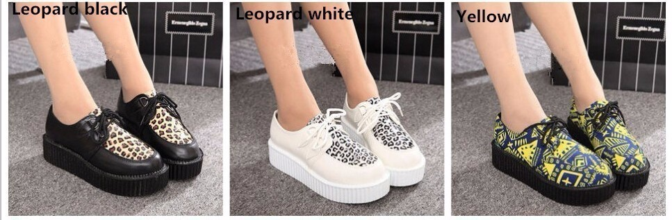 Fashion creepers women Flats Shoes