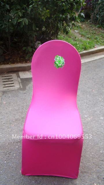 Free shipping -Top quality fushia  spandex chair cover/lycra chair cover