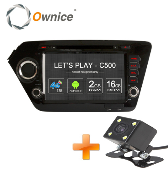 Ownice Android 6.0 Quad Core 2GB RAM for Kia k2 RIO 2010 - 2015 car dvd player GPS Navi Support 4G LTE Network DAB+ DVR TPMS(China (Mainland))
