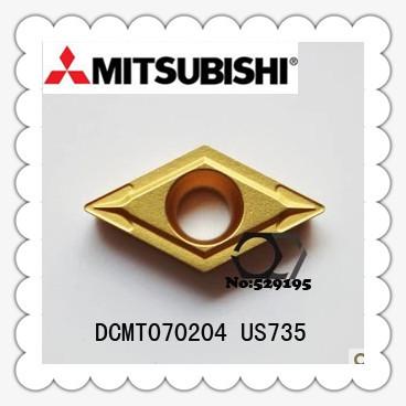 DCMT070204 US735,Japan's mitsubishi original genuine carbide tip Lathe Insert ,the lather,boring bar,cnc,machine,Factory Outlet(China (Mainland))