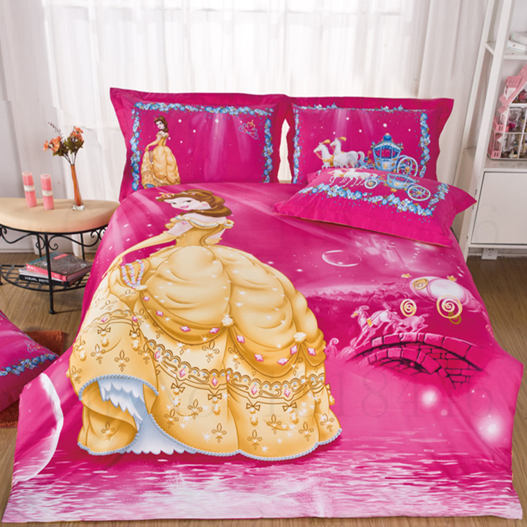 Beauty And The Beast Double Bed Set