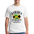 Reggae Beach Country Jamaica Portland Flag Fun Shirts Male Short Sleeved Tees Print For Men 100