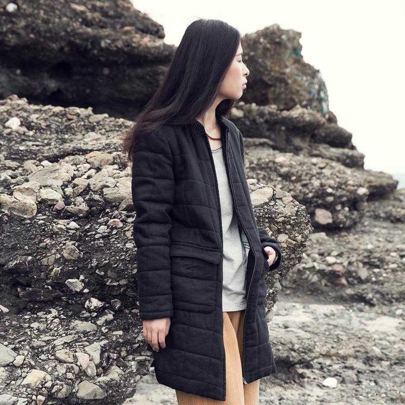 XianRan font b Women b font Winter Coat Zipper Cotton padded font b Clothing b font