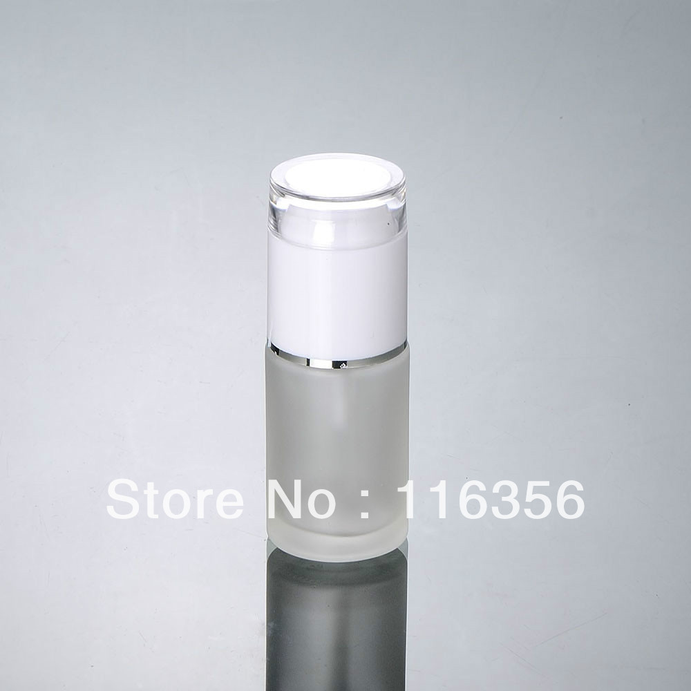 30ML frosted glass bottle white press pump, lotion cosmetic packaging - all packing you want store