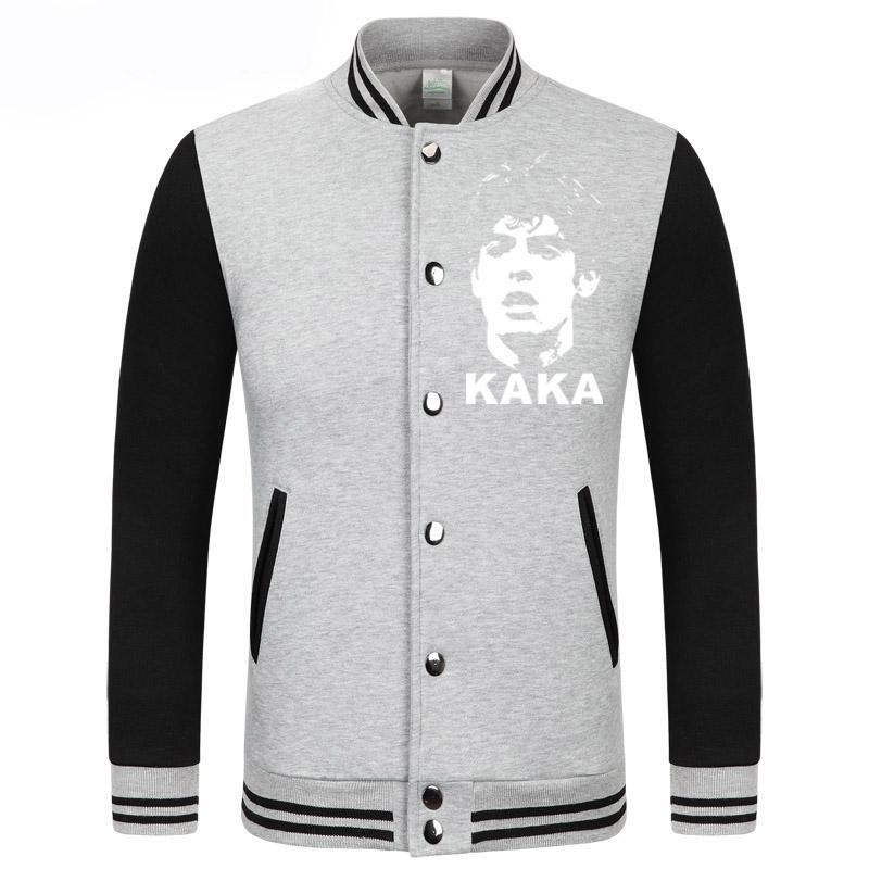 Rushed Sale Cotton Coat The Baseball Uniform Brazilian Football Player KAKA Fashion Full Single Breasted Sweatshirt Men Jackets(China (Mainland))