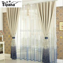 Modern brief curtain finished blind sheer curtain for bedroom tulle +blackout kids bedroom tulle cortina DS067#40(China (Mainland))