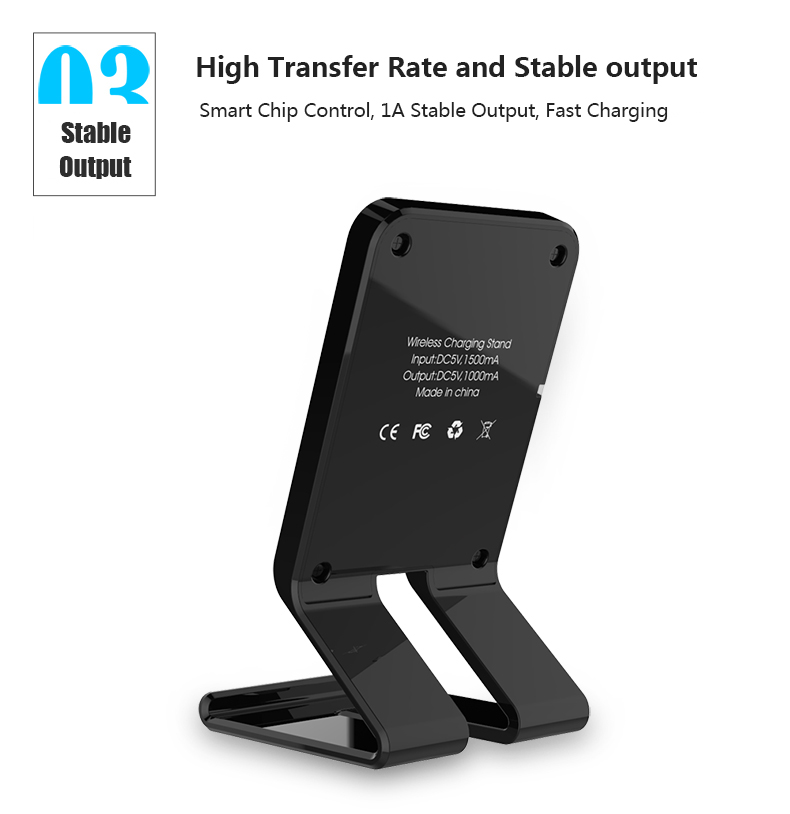 Stand Style Design QI Standard Wireless Charger For Samsung S7 Edge LG Series HTC Nokia 5V 1A Output Wireless Phone Chargers (4)