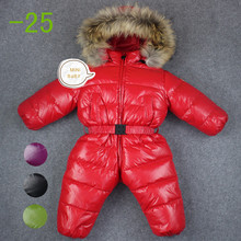 baby girl jumpsuits Russia winter baby clothing , winter coats snow wear duck down jacket ,snowsuits for kids boys girls clothes(China (Mainland))
