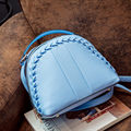 Trendy New Knitting Ornament Preppy Style Backpack Women Solid Color Fashion Casual Small Shoulder Bag Korean