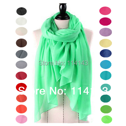 (Promotional) 10pcs/lot Oversized Solid Plain Color Women's Shawl Scarf Head Wrap Hijab Muslim (L:180cm W:100cm), Free Shipping(China (Mainland))