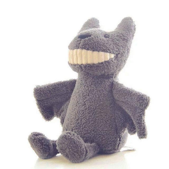 30 СМ Серый Летучая Мышь Фаршированные Мягкие Плюшевые Игрушки Большой Улыбкой Летучие Мыши Peluche Brinquedos для Детей Дети Игрушка Подарки На День Рождения