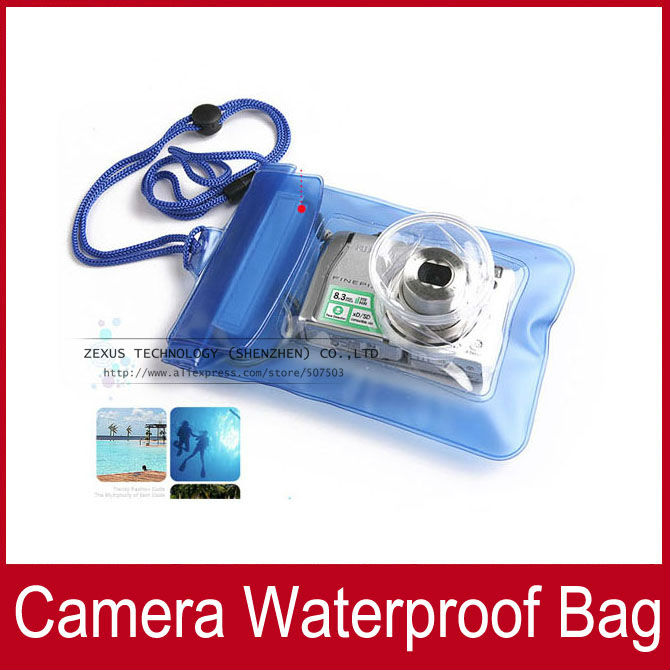 2pcs Waterproof Digital Camera Case For Nikon / Canon / Sony / OLYMPUS Underwater Dry Bag Pouch Outdoor equipment FREE SHIPPING(China (Mainland))