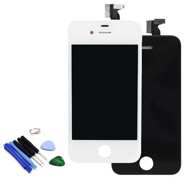 For iPhone 4GS 4S LCD Touch Screen With Digitizer Display Glass Assembly Complete Replacement With Free Tools(China (Mainland))