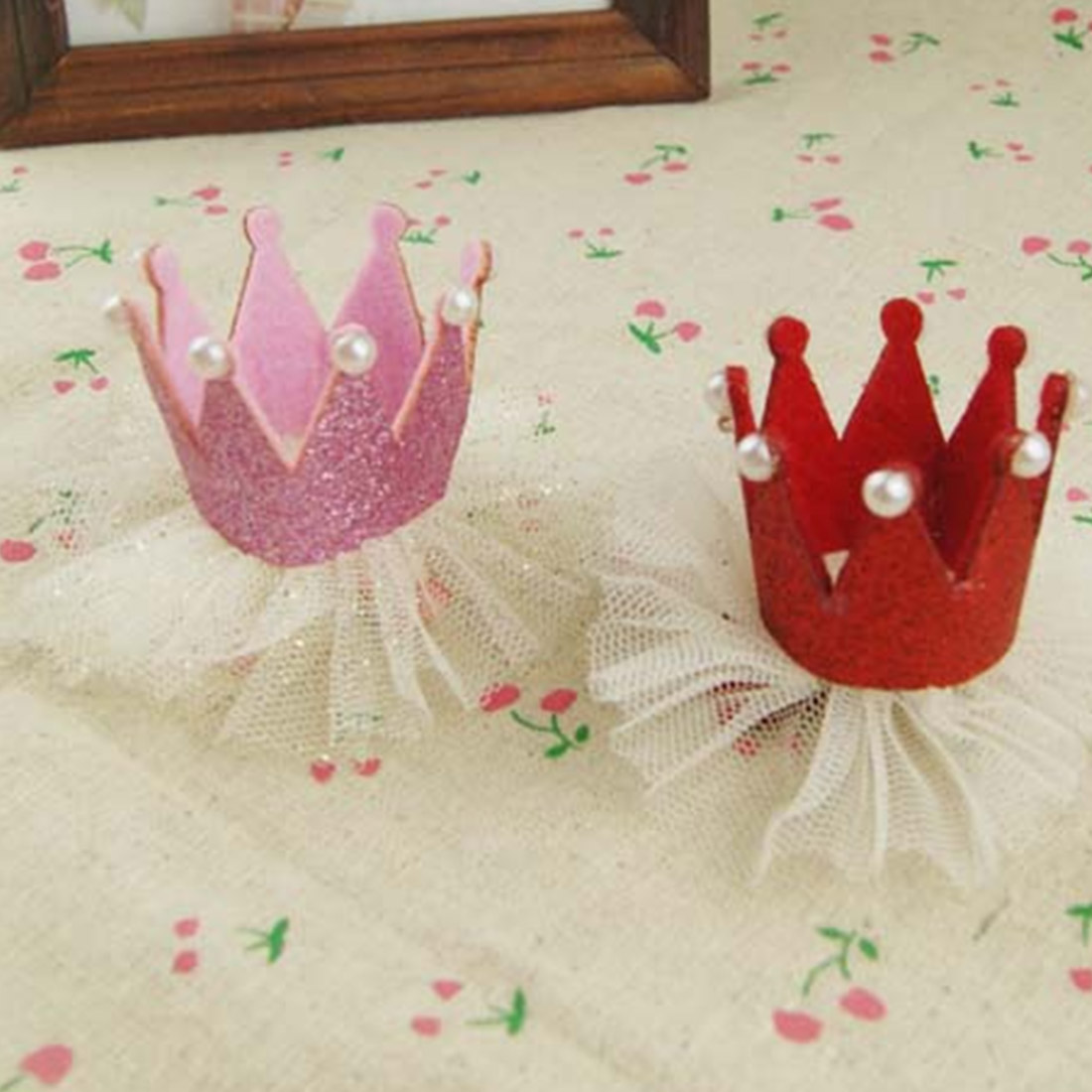Modern Ornament Accessories Baby Girl Hairpin Crown Pearl Princess Hair Clip for Kids Party Accessories Headwear(China (Mainland))